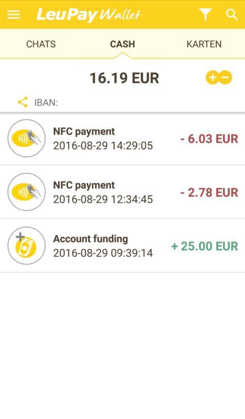 NFC-Payment mit LeuPay